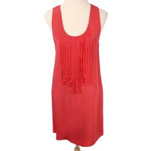 ALI RO Coral Fringe Detail Silk Shift Dress